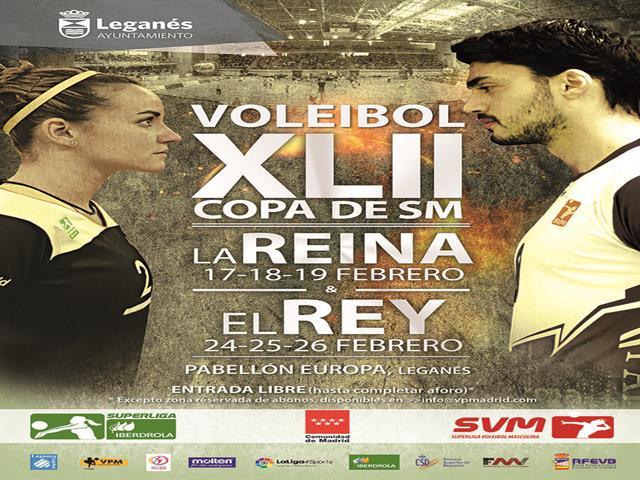 Leganés cerrará dos semanas del mejor voleibol acogiendo a partir de mañana la Copa del Rey