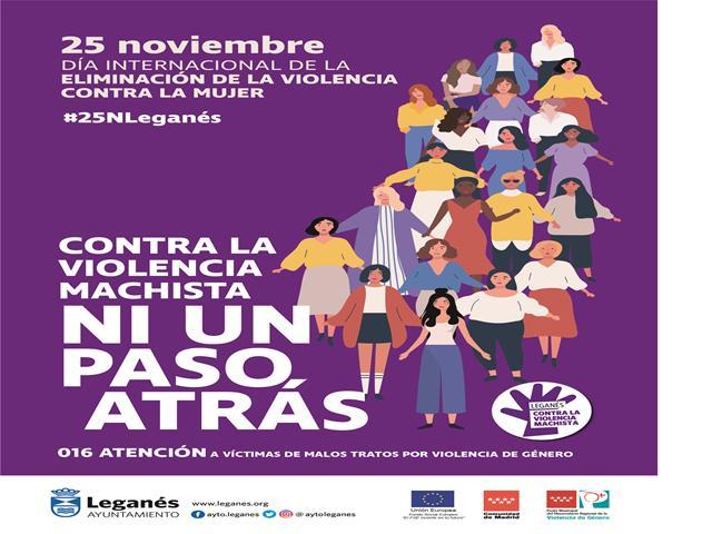 Noviembre, mes feminista en Leganés con un programa del 25N repleto de actividades de concienciación contra la violencia machista