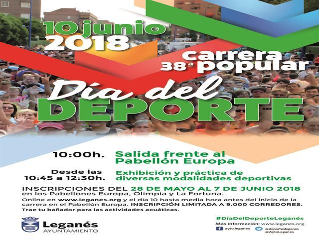Leganés se convertirá el próximo domingo en una pequeña sede olímpica para vivir el 'Día del Deporte', una gran fiesta polideportiva con 29 disciplinas