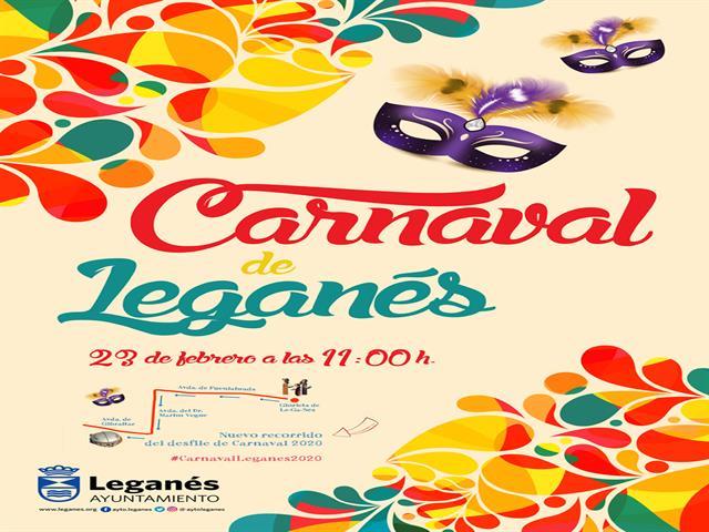 El Carnaval de Leganés cambia su recorrido para que más vecinos y vecinas puedan disfrutar del desfile el próximo domingo 23