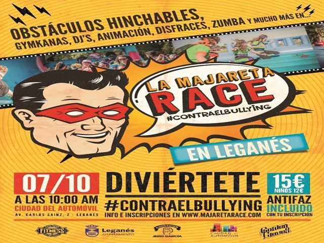 Leganés acogerá la 'Majareta Race', una divertida carrera familiar contra el acoso escolar