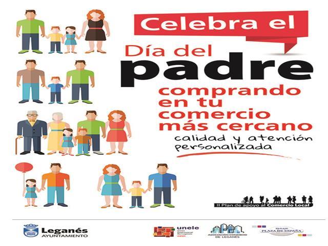 El Ayuntamiento invita a los vecinos y vecinas de Leganés a realizar las compras del Día del Padre en el pequeño comercio local