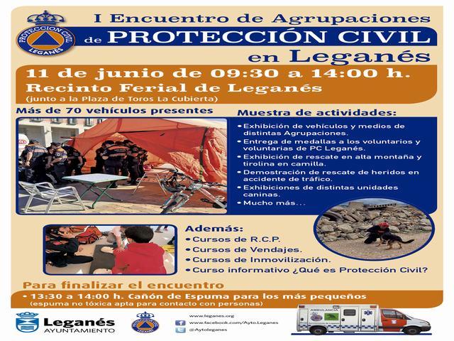 Voluntarios de toda España participarán en el I Encuentro de Agrupaciones de Protección Civil de Leganés