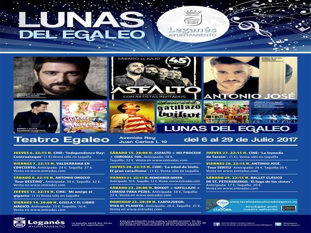 El concejal de Cultura y Festejos, Luis Martín de la Sierra, ha dado a conocer la programación de espectáculos para el próximo mes de julio