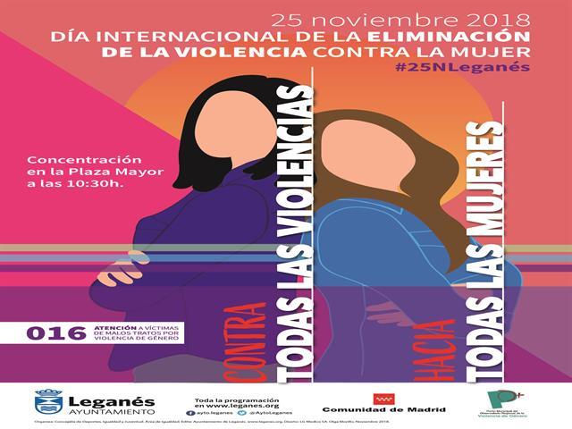 Leganés celebra el 25 de noviembre con un programa de actividades contra la violencia de género y a favor de la igualdad
