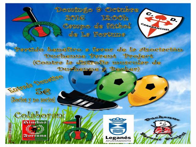 La Fortuna acoge el domingo un partido benéfico a favor de la Asociación Duchenne Parent Project