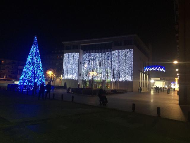 Iluminación LED de bajo consumo para recibir la Navidad