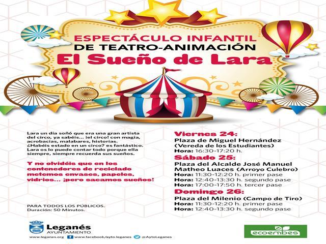 Ayuntamiento y Ecoembes inician una nueva campaña de concienciación del reciclaje llevando espectáculos teatrales a las calles de Leganés
