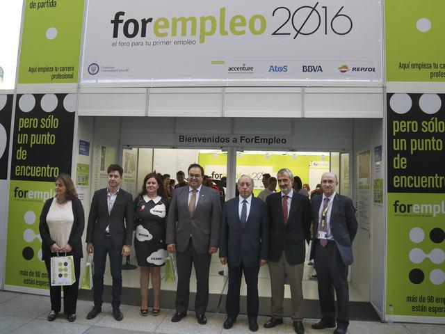El alcalde y el rector de la Universidad Carlos III de Madrid inauguran Forempleo 2016