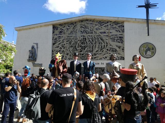 La Compañía de Gigantes de Leganés apadrina a los gigantes de San José de Valderas