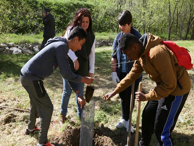 225 alumnos de secundaria participan en un programa de reforestación del Ayuntamiento de Leganés