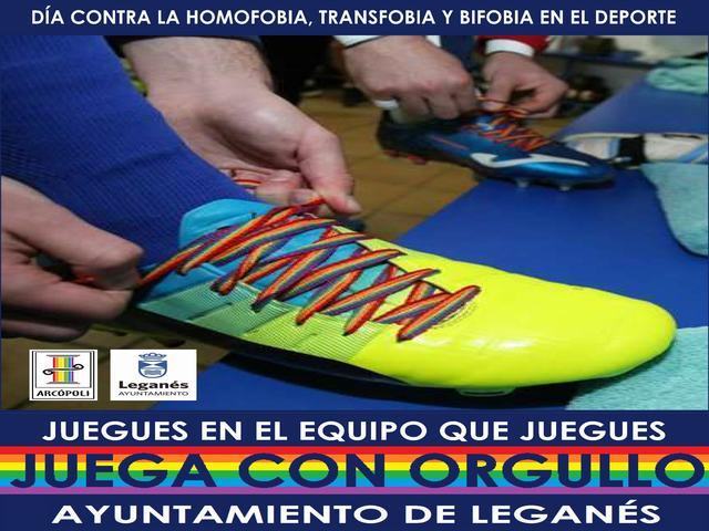 El Ayuntamiento de Leganés y entidades locales se suman al Día Contra la LGTBifobia en el deporte