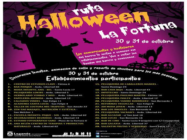 Una nueva iniciativa de Ayuntamiento y comercios de La Fortuna animará las calles del barrio durante el Día de Halloween