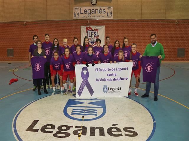 Ayuntamiento y clubes visibilizarán el compromiso de Leganés contra la violencia de género en los encuentros del fin de semana