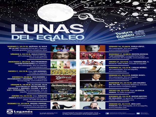 Miles de leganenses disfrutarán de la programación de 'Las Lunas del Egaleo'