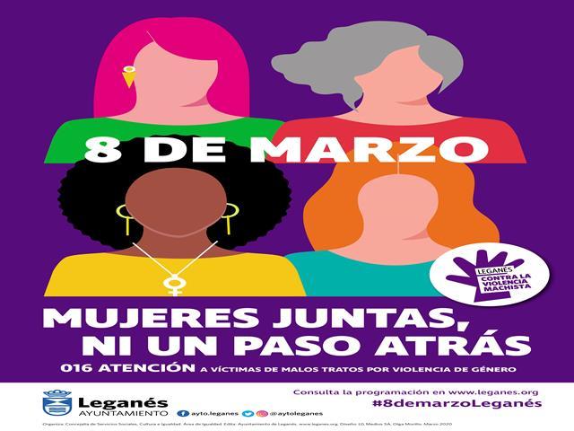 El Ayuntamiento de Leganés prepara una gran 'Marcha por la Igualdad' dentro de los actos del 8 de marzo