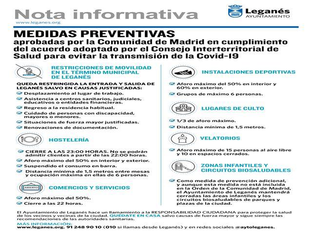 Restricciones de movilidad en el término municipal de Leganés