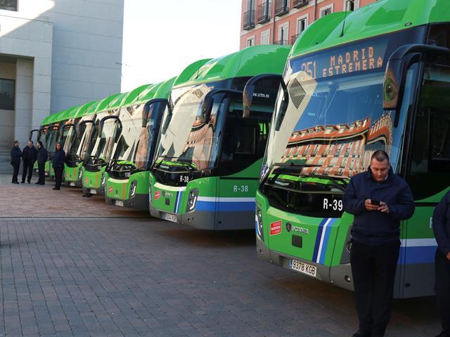 14 nuevos autobuses ecológicos prestarán servicio en las líneas 483, 484 y 487 de Leganés