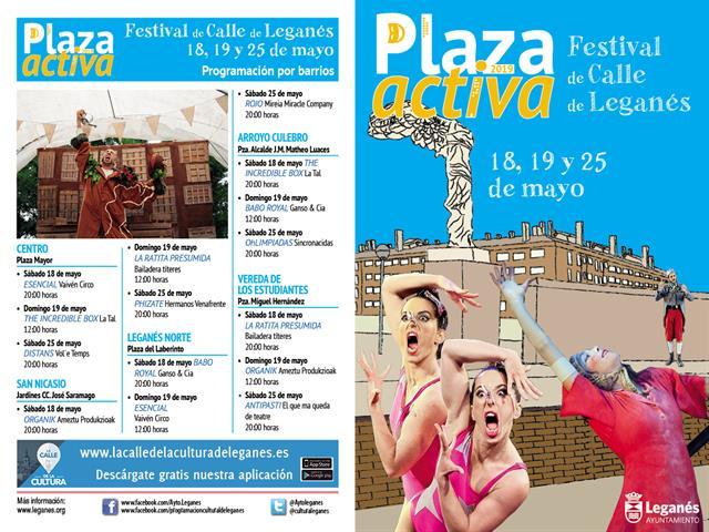 4.500 leganenses disfrutan de los espectáculos gratuitos en las calles en el primer fin de semana del programa Plaza Activa
