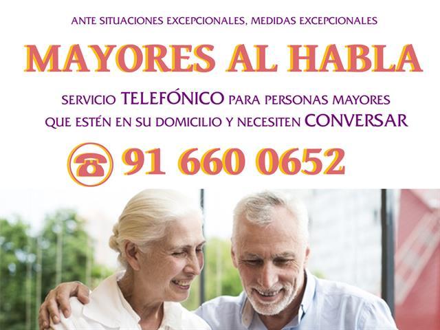 El Ayuntamiento de Torrejón de Ardoz habilita un servicio de acompañamiento telefónico para mayores, para prevenir situaciones de soledad ante el confinamiento provocado por el coronavirus