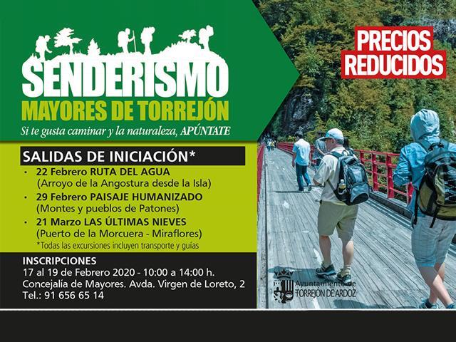 La Concejalía de Mayores del Ayuntamiento de Torrejón de Ardoz organiza varias salidas de senderismo