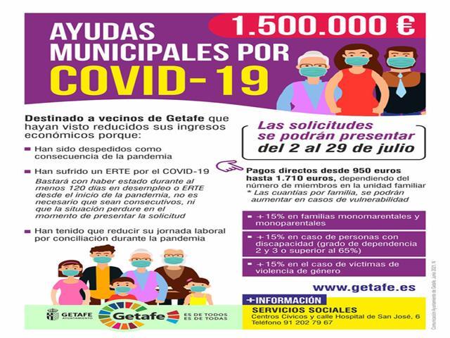 Últimos días para solicitar las ayudas por reducción de ingresos durante la COVID-19