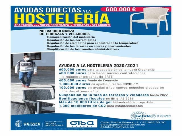 Getafe destina 600.000 euros en ayudas a los hosteleros para la nueva ordenanza