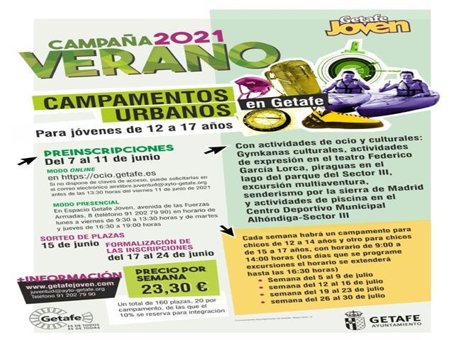 Getafe Joven organiza campamentos urbanos durante el mes de julio
