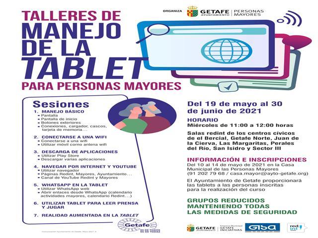 Getafe ofrece talleres de manejo de tablet para personas mayores