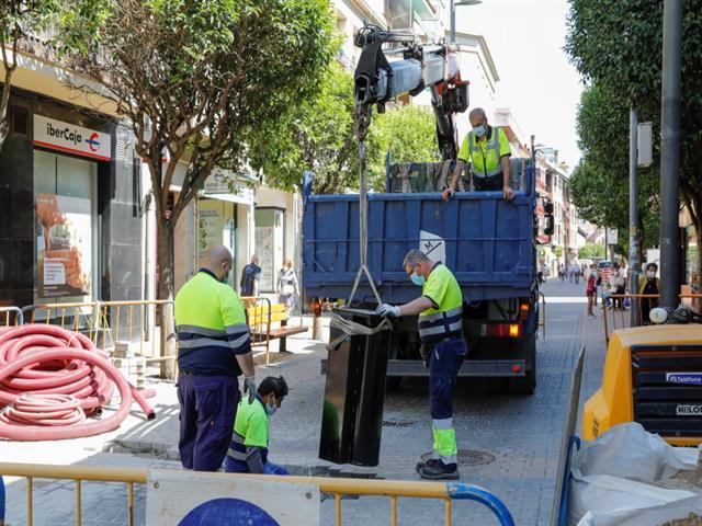 Getafe refuerza las zonas peatonales del centro de la ciudad