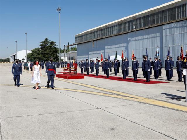La Base Aérea de Getafe recibe la Medalla de oro de la ciudad en un emotivo acto