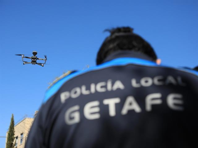 Getafe mejora su seguridad con la nueva Unidad de Drones de la Policía Local