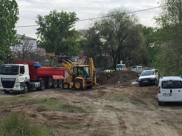 Getafe comienza a eliminar 20 huertos no autorizados en el margen del río Manzanares