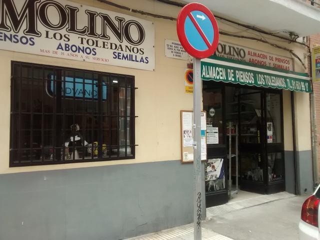 """MOLINO """"LOS TOLEDANOS"""", ALMACÉN DE PIENSOS, ABONOS Y SEMILLAS, PIENSO PARA MASCOTAS, TIENDA DE PIENSOS"""